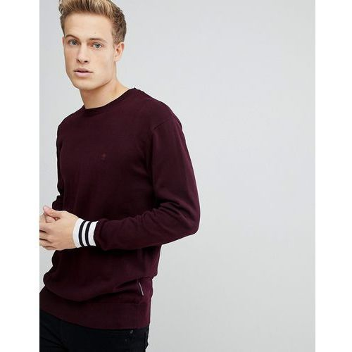 crew neck knitted jumper with contrast cuff - navy marki French connection