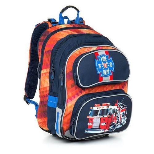 Plecak szkolny chi 793 g - red marki Topgal