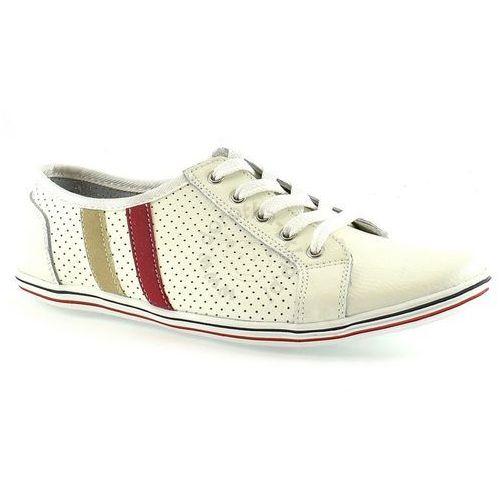 Trampki Vinceza R15-D-SP-643 - Biały ||Kremowy, kolor biały