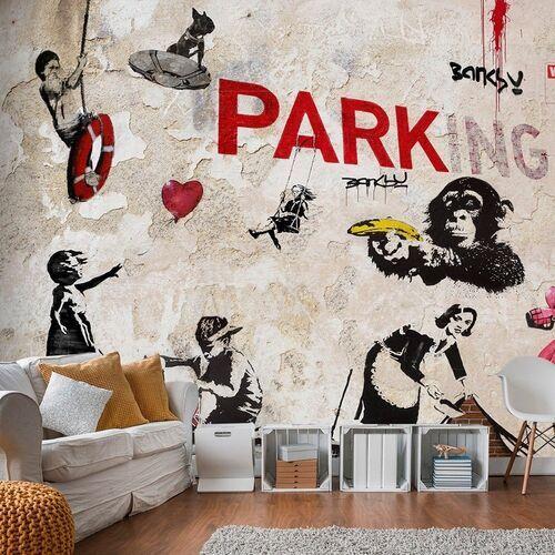 Fototapeta - kolaż graffiti (banksy)