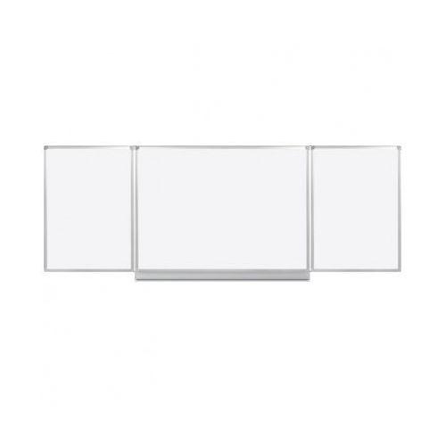 B2b partner Rozkładana biała tablica magnetyczna do pisania, 3600 x 1200 mm