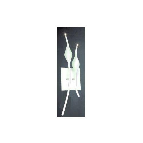 Azzardo snake mb az0047 6219-2b-wh kinkiet lampa ścienna 2x20w g4 biały + żarówka led za 1 zł gratis! (5901238400479)