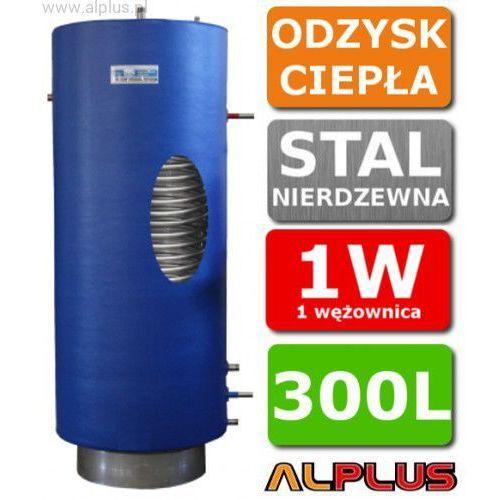 Zbiornik, wymiennik do odzysku ciepła z procesów chłodzenia, do freonu, stojący pionowy 300 litrów z 1 wężownicą, Chełchowski, nierdzewny, opcja: wiszący, zawór w cenie, Wysyłka gratis, CHE-ODZYSK-1W-STOJ-300L