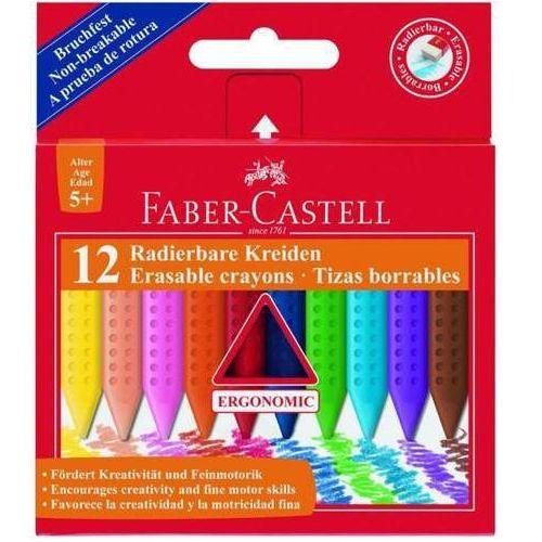 Faber castell Kredki grip trójkątne woskowe 12 kolorów
