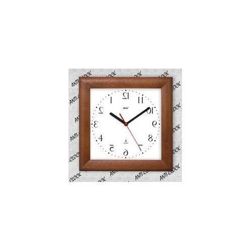 Atrix Anty-zegar drewniany kwadrat lustro #2