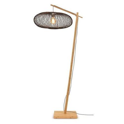 Good&mojo lampa podłogowa cango naturalna 60x25 czarny cango/f/ad/n/6025/b