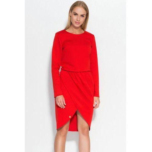 Sukienka model m327 red, Makadamia