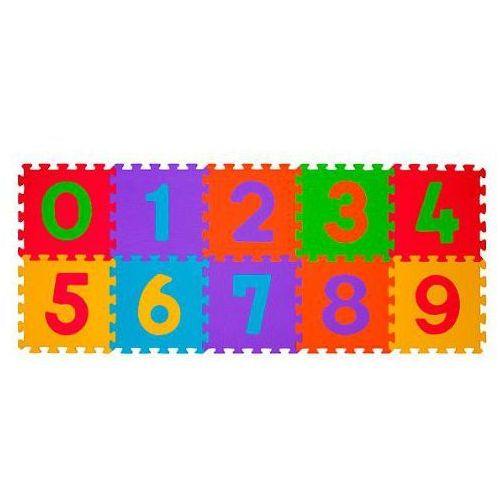 Babyono 274 10szt puzzle piankowe cyfry | darmowa dostawa od 200 zł | gwarancja dostawy do świąt