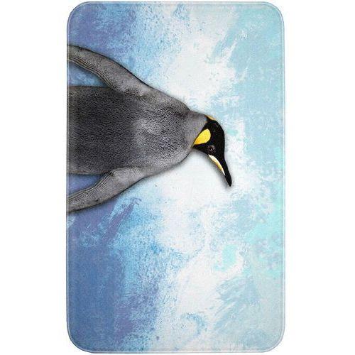 """Dywaniki łazienkowe """"pingwin"""", pianka memory niebieski marki Bonprix"""