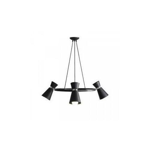 Aldex Kedar na kole 989E1/K Lampa wisząca sufitowa zwis 3x60W E27 czarny/chrom, LAM989E1_K-AX