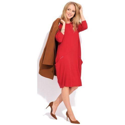 587d7e5414 Fille du couturier sukienka damska daniela 36 czerwony