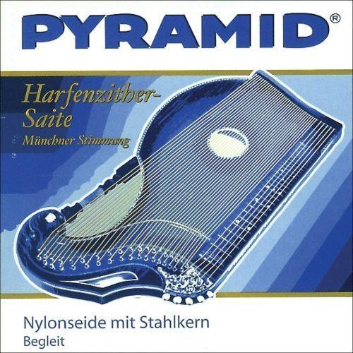 (663609) struna do cytry, nylonowa ze stalowym rdzeniem / cytra o rezonansie harfowym/powietrznym - h 9. marki Pyramid