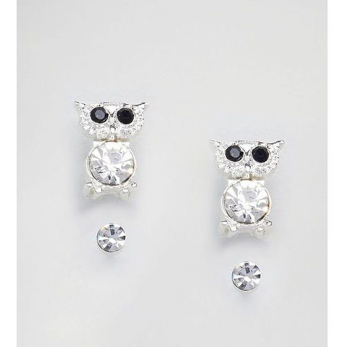 2 pack stud with owl - silver marki Johnny loves rosie