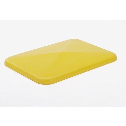 Pokrywa, do pojemników 227 l, żółty. marki Vectura behältermanagement