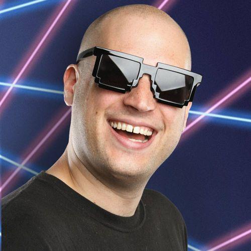 Pikselowe okulary 8 bit pixel - czarne - czarny