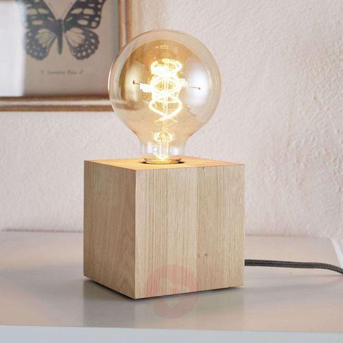 Lampa stołowa Spot Light Trongo 1x60W E27 dąb olejowany/antracyt 7171174, 7171174