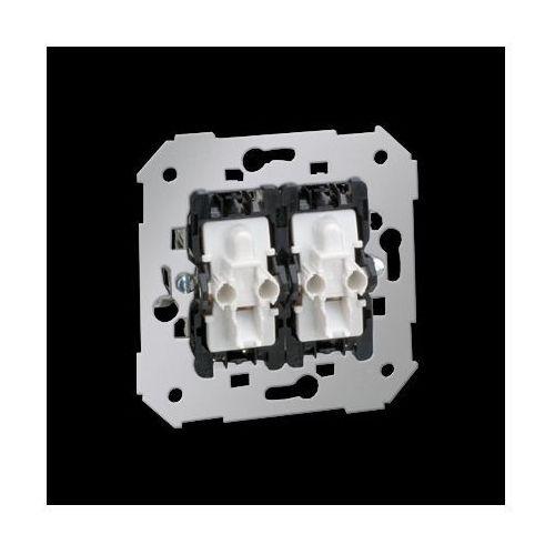 Przycisk podwójny zwierny z podświetleniem (mechanizm), 10A, 250V~, szybkozłącza