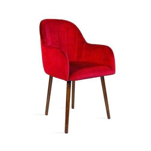Krzesło besso czerwony/ noga orzech/ tr9 marki B&d