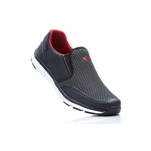 Buty wsuwane lico czarno-czerwony marki Bonprix