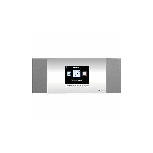 MONACOR DR-463 Tuner radia internetowego WLAN oraz FM i DAB+, z funkcją DLNA oraz Bluetooth, DR-463