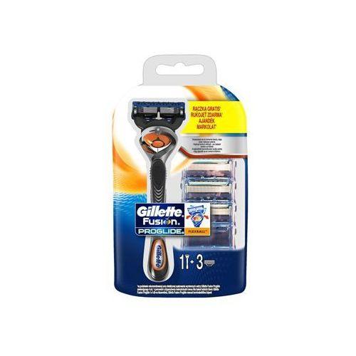 fusion proglide flexball maszynka do golenia + ostrza wymienne 3 szt. marki Gillette