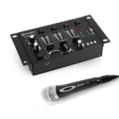 Electronic-star mini dj set, 1 x 3/2-kanałowy mikser, 1 x mikrofon ręczny (4260395872446)