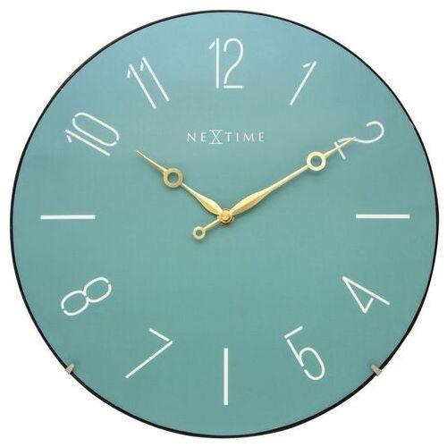 Nextime Zegar ścienny trendy dome 35 cm, turkusowy (3158 tq)