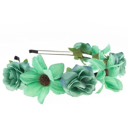 Opaska sztywna kwiaty jasna mięta - jasna mięta marki Iloko