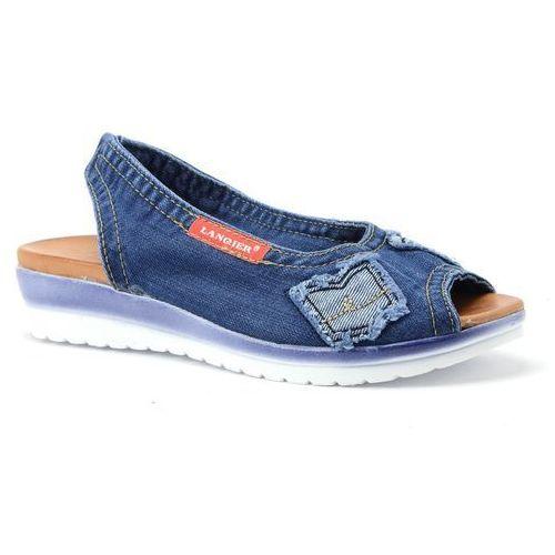 Sandały 42c211 jeans marki Lanqier