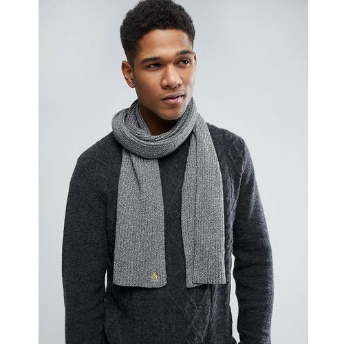 Original Penguin Twisted Yarn Scarf - Grey