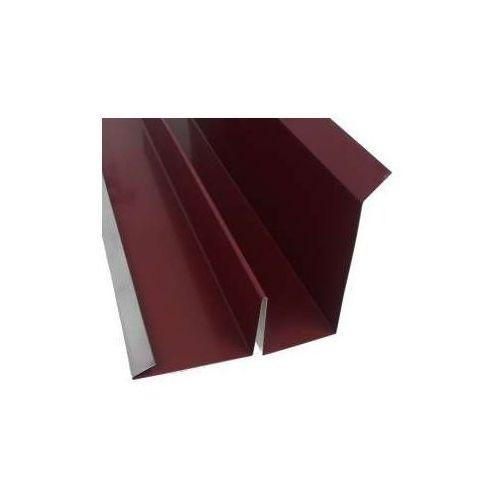 Obróbka przyścienna pod dachówkę z fałszywym felcem - 0010 aluminium