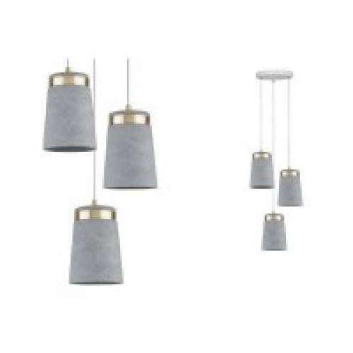 Oprawa wisząca Neordic Norell 3-lampowa Biała / złota / betonowa, PAULMANN 79627