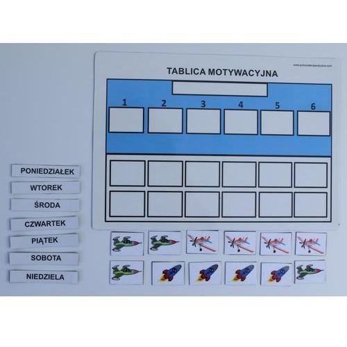 Uproszczona magnetyczna tablica motywacyjna A4 z samolotami