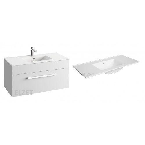 DEFRA szafka Olex D100 biały połysk + umywalka Plan 100 024-D-10002+1726, 024-D-10002.1726