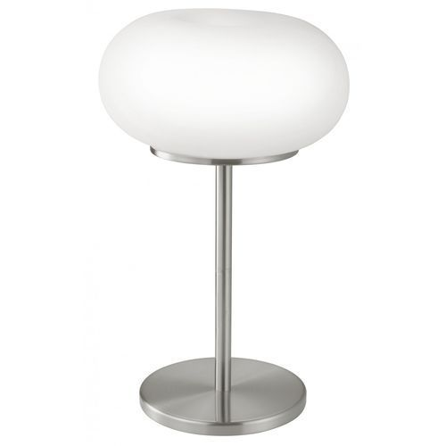 EGLO 86816 - Lampa stołowa OPTICA 2xE27/60W biały/opalone szkło (9002759868161)