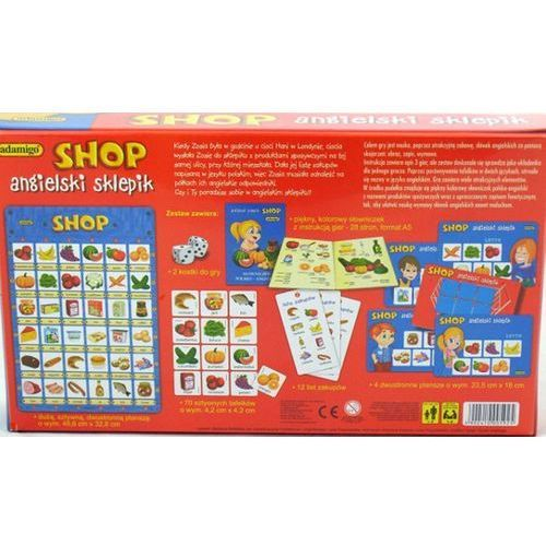 Shop angielski sklepik gra edukacyjna marki Adamigo