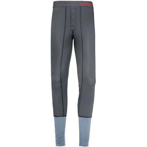 Norrøna Super Bielizna dolna Mężczyźni szary L 2018 Spodnie termiczne długie