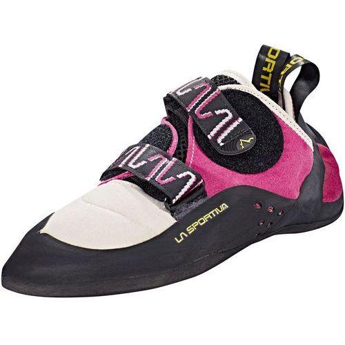 katana but wspinaczkowy kobiety różowy/czarny 38,5 buty wspinaczkowe na rzepy marki La sportiva