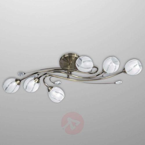 Plafon lampa oprawa sufitowa Spot Light Alanis 6x40W E14 patyna 5073611 (5900805044207)