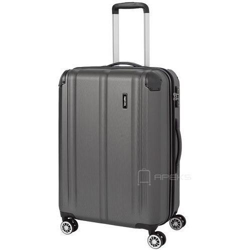 Travelite City średnia walizka poszerzana 68 cm / szara - szary