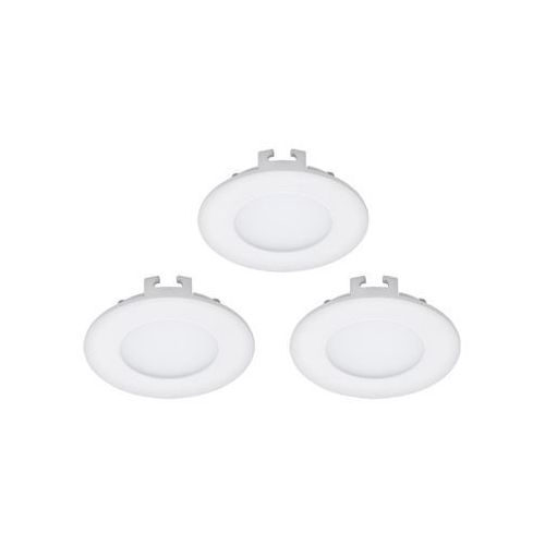 Oczko LAMPA sufitowa FUEVA 1 94732 Eglo podtynkowa OPRAWA LED 3W okrągły wpust komplet 3 szt. IP20 biały, 94732