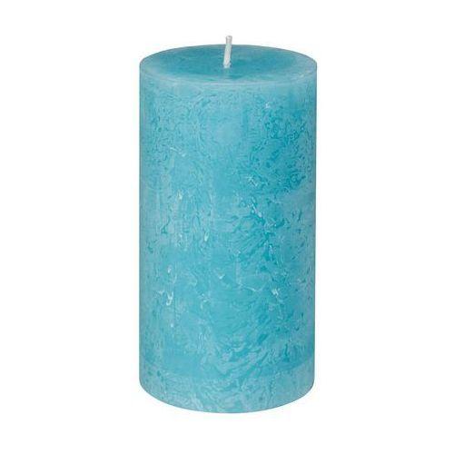 BOLSIUS Świeca Rustic 130/68 aqua - Aqua (4006523350765)