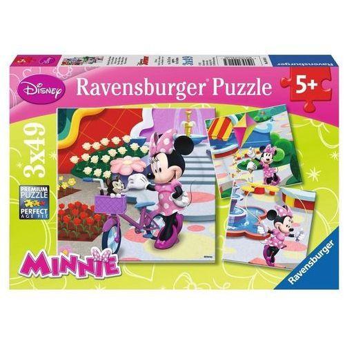 Ravensburger Puzzle 3x49 elementów - piękna myszka minnie (4005556094165)