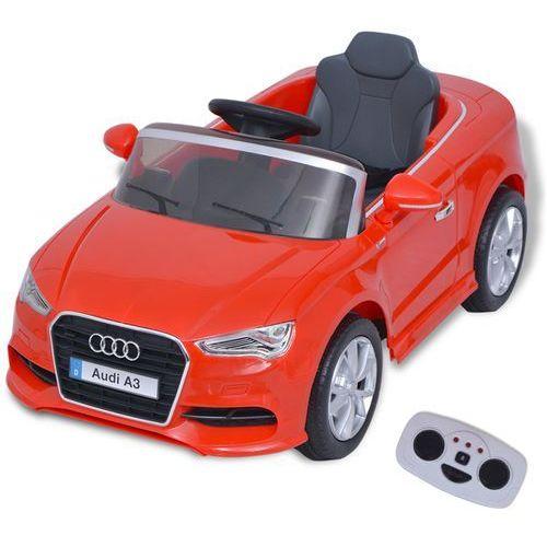 vidaXL Elektryczny samochód dla dzieci z pilotem Audi A3 czerwone (8718475992806)