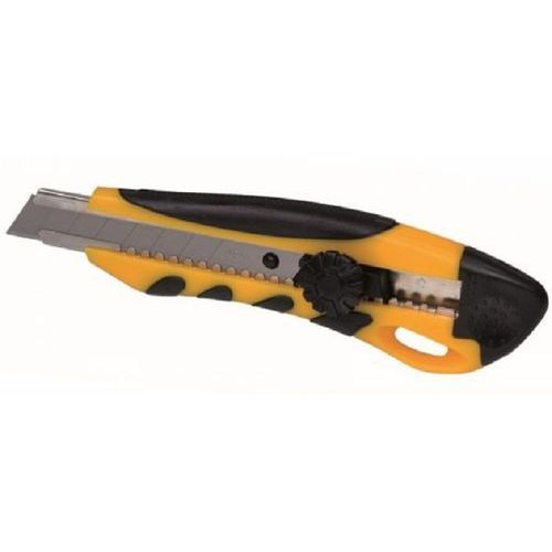 Nóż żółty XL 18mm odłamywane ostrze uchwyt z gumą