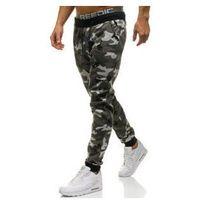 Spodnie męskie dresowe joggery moro-szare denley kk06 marki J.style