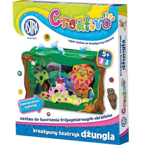 Kreatywny teatrzyk ASTRA Creativo Dżungla - produkt z kategorii- Zabawki kreatywne
