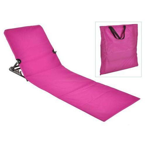 HI Składana mata plażowa z oparciem, PVC, różowa