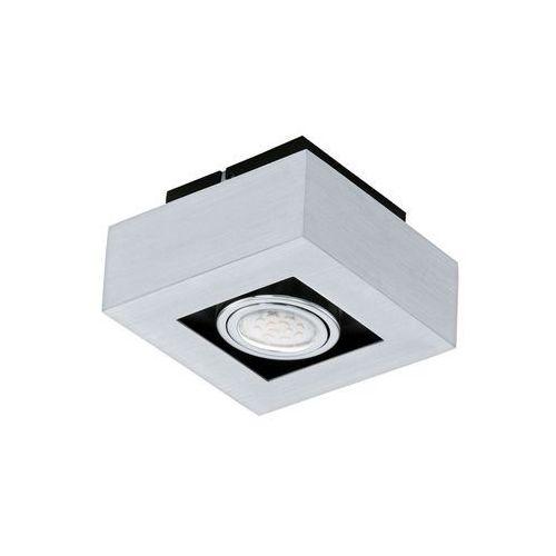 Eglo Plafon lampa sufitowa loke 1 91352 natynkowa oprawa metalowa ip20 kwadrat chrom (9002759913526)
