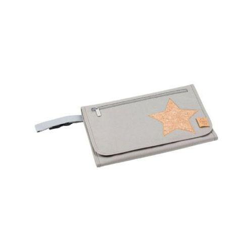 Lässig LÄssig torba na akcesoria do przewijania casual wrap to go cork star light grey (4042183350141)